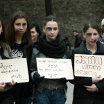 """აქცია """"ქალებზე ძალადობის წინააღმდეგ"""""""